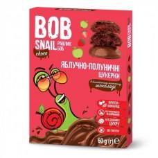 Цукерки яблучно-полуничні натуральні у молочному шоколаді без цукру Bob Snail 120г