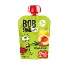"Пюре ""яблуко-персик"" Bob Snail фруктове натуральне 90г"