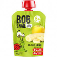 """Пюре """"яблуко-банан"""" Bob Snail фруктове натуральне 90г"""