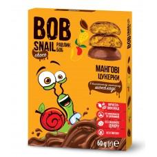 Цукерки мангові натуральні у молочному шоколаді без цукру Bob Snail  60г