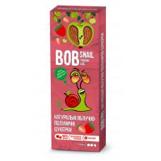 Цукерки яблучно-полуничні натуральні Bob Snail без цукру 30г