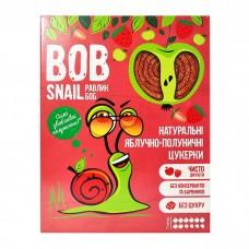 Цукерки яблучно-полуничні натуральні Bob Snail без цукру 120г