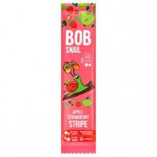 Страйп яблучно-полуничний натуральний Bob Snail без цукру 14г