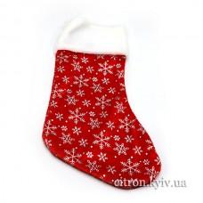 """Шкарпетка подарункова """"Сніжинка"""""""